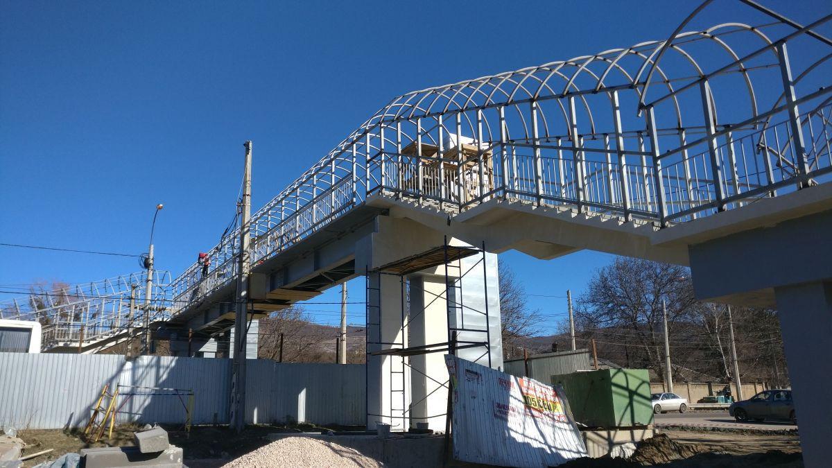 Сотрудники Дирекции проинспектировали строительство пешеходных переходов в Симферопольском районе
